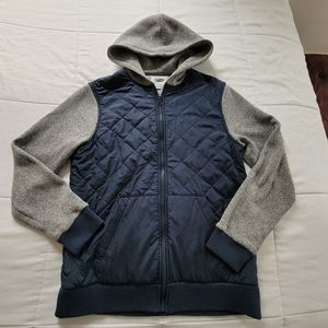 Old Navy Quilted Puffer Hooded Jacket Coat, M